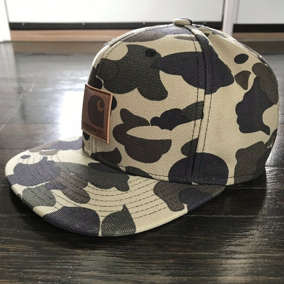 958566d69a12f Carhartt WIP Other - Carhartt WIP Camo Starter Black Label Snap-Back